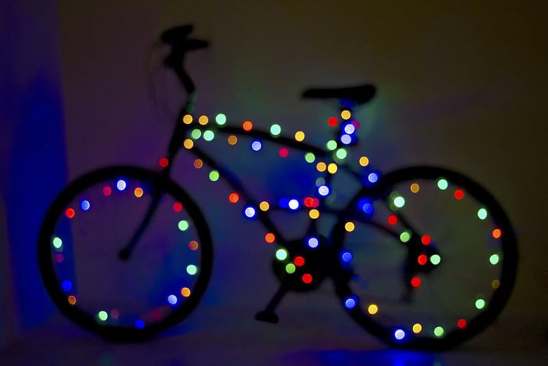 vélo lumineux - pause hivernale