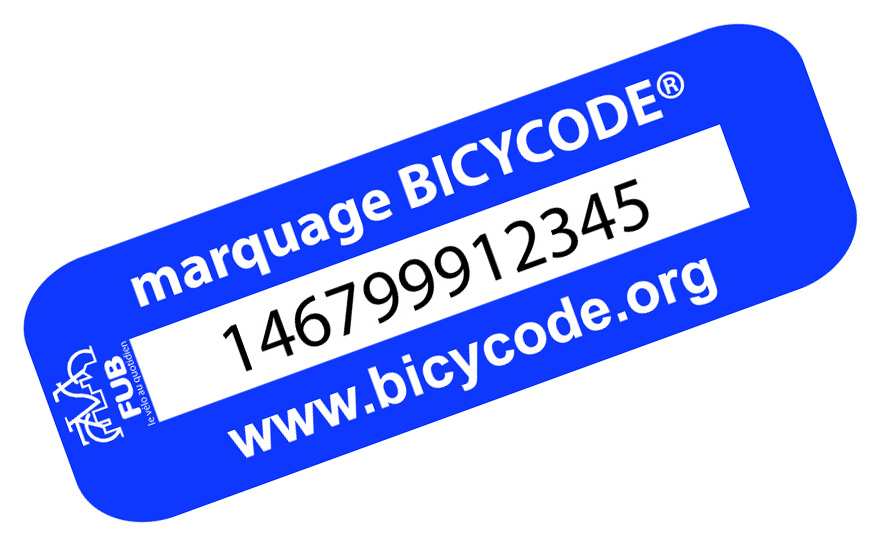 Étiquette marquage Bicycode