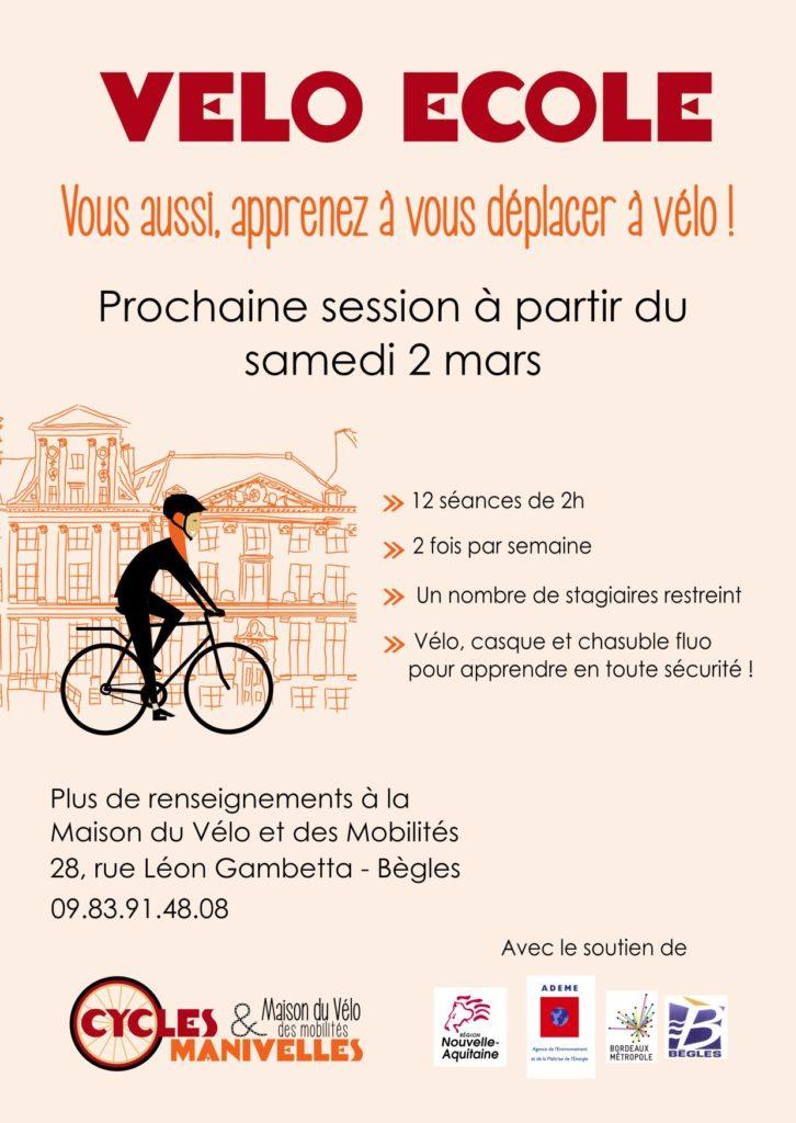 vélo école adultes