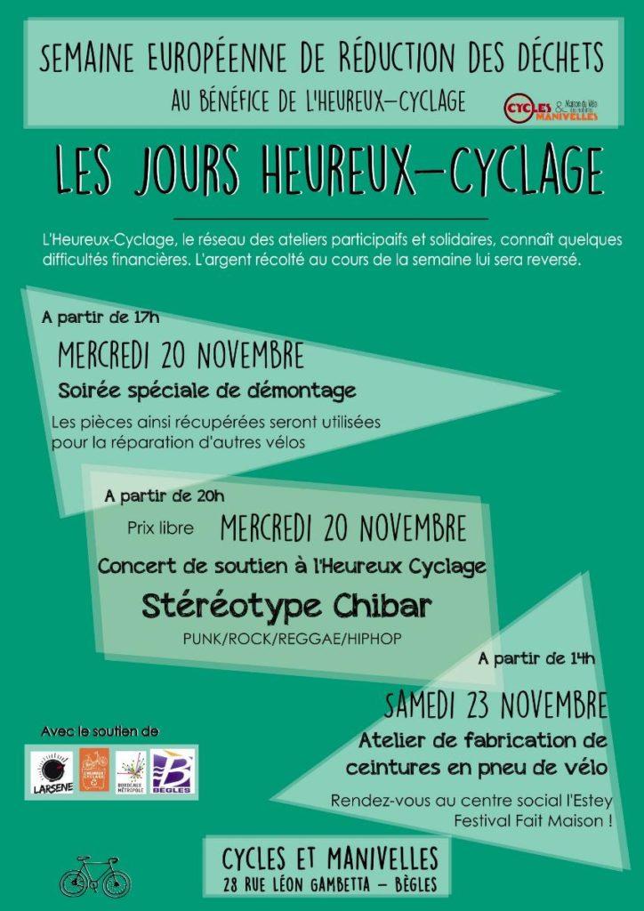 affiche du programme de notre Semaine Europeenne de Reduction des Dechets Stereotype Chibar