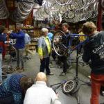 photo soirée solidaire avec l'heureux cyclage